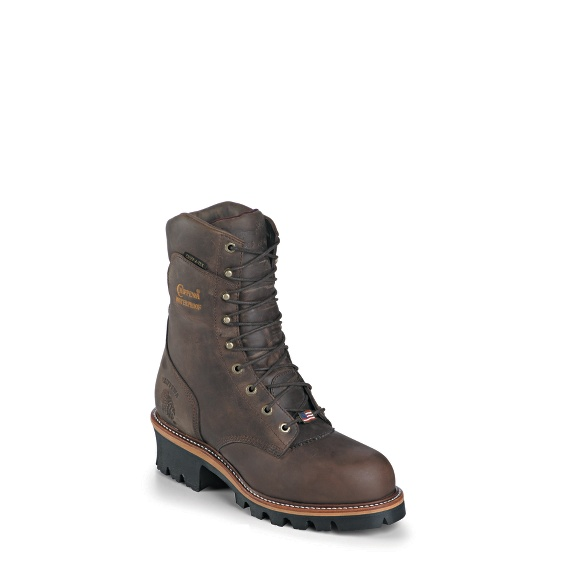 """Image for MEN'S 9"""" LOGGER WATERPROOF RUGGED OUTDOOR BOOTS ; Style# 25406"""
