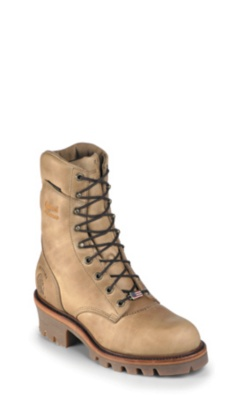 MEN'S 9inch GOLDEN TAN APACHE LOGGER RUGGED OUTDOOR BOOTS