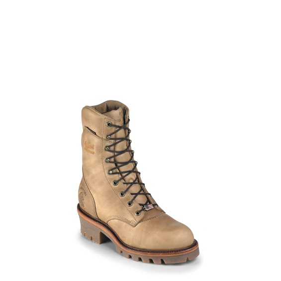 "Image for MEN'S 9"" GOLDEN TAN APACHE LOGGER RUGGED OUTDOOR BOOTS ; Style# 25415"