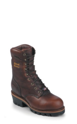 MEN'S 9inch BRIAR OILED LOGGER STEEL TOE RUGGED OUTDOOR BOOTS