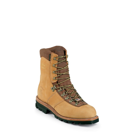 """Image for MEN'S 9"""" GOLDEN TAN NUBUC ARCTIC RUGGED OUTDOOR BOOTS ; Style# 25466"""