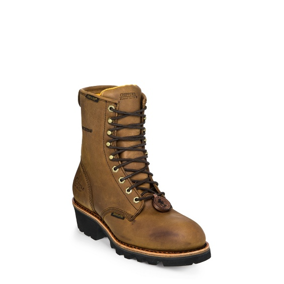 """Image for MEN'S 8"""" BAY APACHE WATERPROOF INSULATED STEEL TOE LOGGER RUGGED OUTDOOR BOOTS ; Style# 26341"""