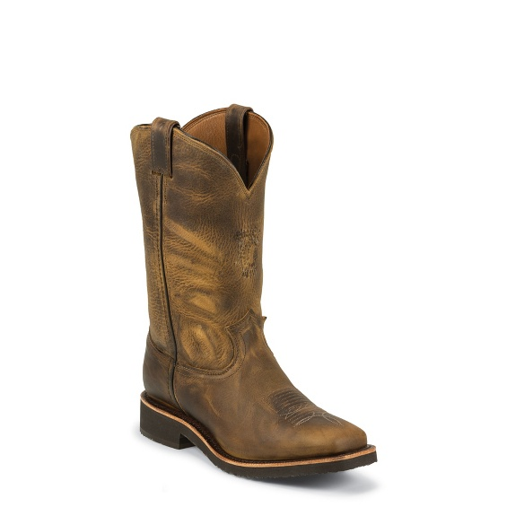 """Image for MEN'S 12"""" GOLDEN SAND APACHE ARROYOS® SQUARE TOE PULL ON RUGGED OUTDOOR BOOTS ; Style# 29324"""
