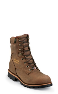 MEN'S 8inch BAY CRAZY HORSE UTILITY WATERPROOF INSULATED RUGGED OUTDOOR BOOTS