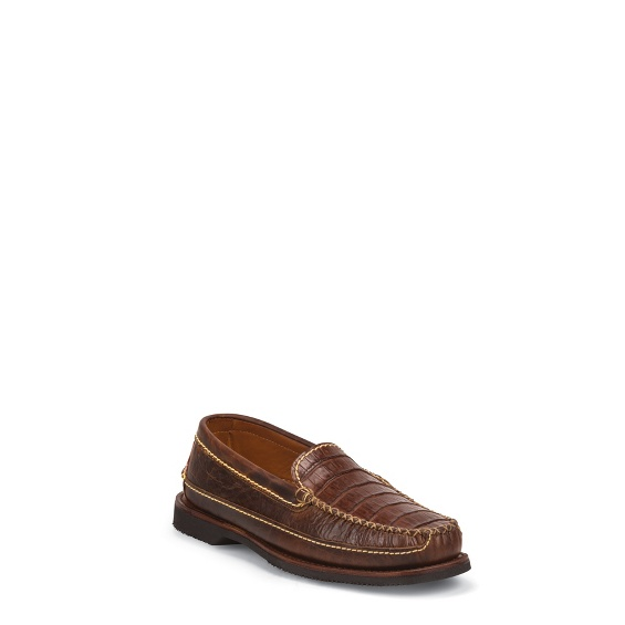 Image for MEN'S COGNAC CAIMAN AND PEANUT BISON CASUAL SHOES ; Style# 30200