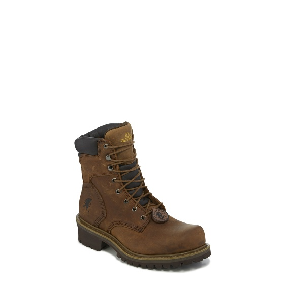 "Image for MEN'S 8"" HEAVY DUTY TOUGH BARK OBLIQUE STEEL TOE LOGGER RUGGED OUTDOOR BOOTS ; Style# 55026"