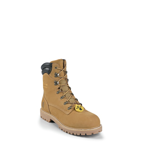 "Image for MEN'S 8"" GOLDEN TAN NUBUC UTILITY WATERPROOF STEEL TOE RUGGED OUTDOOR BOOTS ; Style# 55065"
