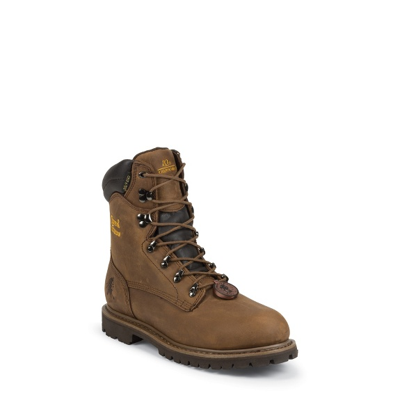 """Image for MEN'S 8"""" HEAVY DUTY TOUGH BARK UTILITY WATERPROOF INSULATED STEEL TOE RUGGGED OUTDOOR BOOTS ; Style# 55069"""