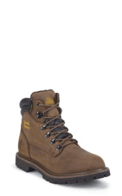 MEN'S 6inch TOUGH BARK UTILITY WATERPROOF INSULATED COMPOSITION TOE LACE UP RUGGED OUTDOOR BOOTS