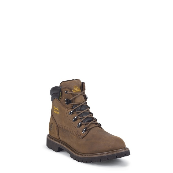 "Image for MEN'S 6"" TOUGH BARK UTILITY WATERPROOF INSULATED COMPOSITION TOE LACE UP RUGGED OUTDOOR BOOTS ; Style# 55074"