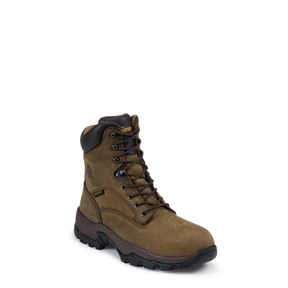 """Image for MEN'S 8"""" BAY APACHE UTILITY COMPOSTION TOE LACE UP RUGGED OUTDOOR BOOTS ; Style# 55166"""