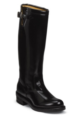 MEN'S 17inch BLACK STRAPLESS RUGGED TROOPER BOOTS