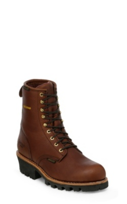 MEN'S 8inch BRIAR INSULATED WATERPROOF LOGGER RUGGED OUTDOOR BOOTS