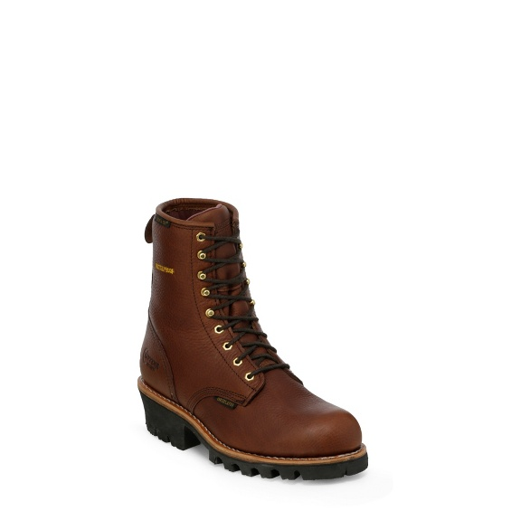 """Image for MEN'S 8"""" BRIAR INSULATED WATERPROOF LOGGER RUGGED OUTDOOR BOOTS ; Style# 73061"""