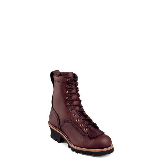 """Image for MEN'S 8"""" REDWOOD LOGGER RUGGED OUTDOOR BOOTS ; Style# 73075"""