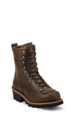 MEN'S 8inch BAY APACHE WATERPROOF LOGGER RUGGED OUTDOOR BOOTS