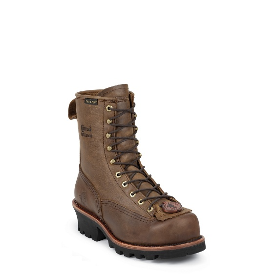 """Image for MEN'S 8"""" BAY APACHE WATERPROOF STEEL TOE LOGGER RUGGED OUTDOOR BOOTS ; Style# 73101"""