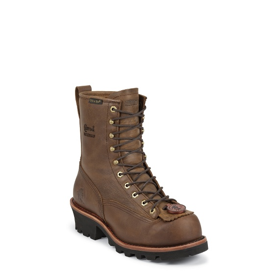 """Image for MEN'S 8"""" BAY APACHE WATERPROOF INSULATED STEEL TOE LOGGER RUGGED OUTDOOR BOOTS ; Style# 73103"""