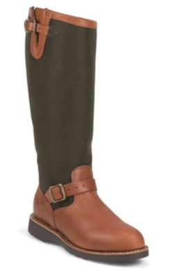 WOMEN'S 15inch BROWN ESPRESSO/VIPER® CLOTH SNAKE BOOTS
