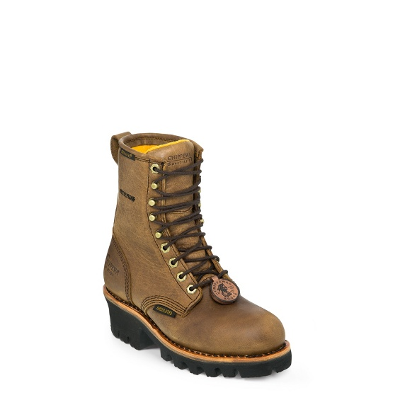 "Image for WOMEN'S 8"" BAY APACHE WATERPROOF INSULATED STEEL TOE LOGGER BOOTS ; Style# L26341"