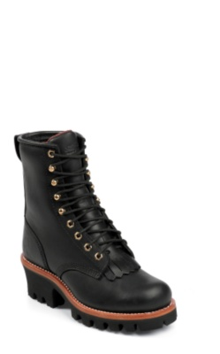 WOMEN'S 8inch BLACK OILED INSULATED LOGGER BOOTS