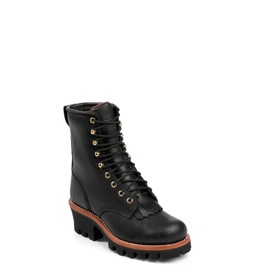 """Image for WOMEN'S 8"""" BLACK OILED INSULATED LOGGER BOOTS ; Style# L73045"""