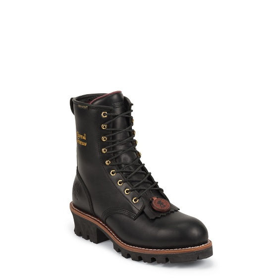 """Image for WOMEN'S 8"""" BLACK OILED WATERPROOF INSULATED STEEL TOE LOGGER BOOTS ; Style# L73050"""