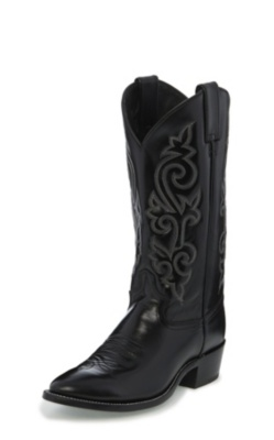 MEN'S  BLACK LONDON CALF WESTERN BOOTS