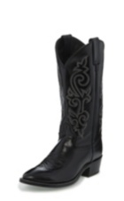 MEN'S  BLACK WESTERN CALF BOOTS