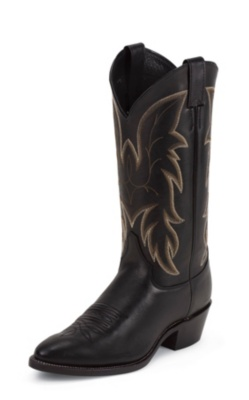 MEN'S ROYAL BLACK COWHIDE WESTERN BOOTS