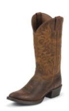 MEN'S RUGGED TAN COWHIDE WESTERN BOOTS