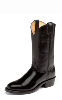 MEN'S BLACK MELO-VEAL WESTERN BOOTS