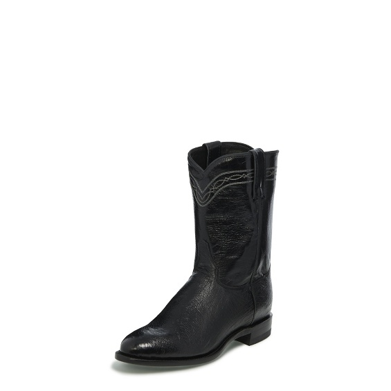 Justin Boots 3172 Brock Roper Black Smooth