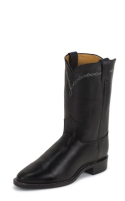 MEN'S ROYAL BLACK COWHIDE ROPER BOOTS