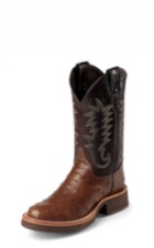 MEN'S BROWN FULL QUILL OSTRICH EXOTIC BOOTS
