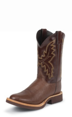 MEN'S ANTIQUE BROWN SMOOTH OSTRICH TEKNO CREPE® WESTERN BOOTS