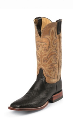 MEN'S BLACK SMOOTH OSTRICH AQHA REMUDA® BOOTS