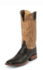 MEN'S BLACK SMOOTH OSTRICH AQHA REMUDA® EXOTIC BOOTS