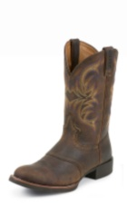 MEN'S DARK BROWN COWHIDE STAMPEDE CATTLEMAN BOOTS