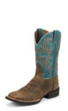 MEN'S TAN BUFFALO STAMPEDE CATTLEMAN BOOTS
