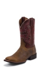 MEN'S TAN COWHIDE STAMPEDE CATTLEMAN BOOTS
