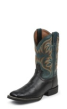 MEN'S BLACK SMOOTH COWHIDE STAMPEDE CATTLEMAN BOOTS