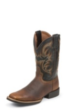 MEN'S DARK TAN BUFFALO STAMPEDE CATTLEMAN BOOTS