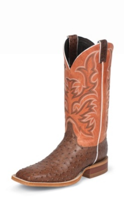 MEN'S ANTIQUE BROWN VINTAGE FULL QUILL OSTRICH AQHA REMUDA® BOOTS