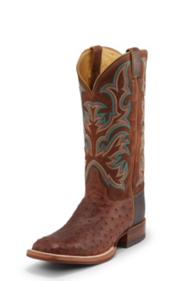 MEN'S ANTIQUE SADDLE FULL QUILL OSTRICH AQHA REMUDA® BOOTS