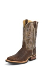 MEN'S DARK BROWN FULL QUILL OSTRICH AQHA REMUDA® BOOTS