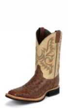 MEN'S BROWN FULL QUILL OSTRICH AQHA Q-CREPE™ BOOTS