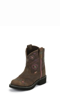 KIDS' BARNWOOD BROWN BUFFALO JUSTIN GYPSY™ BOOTS