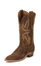 MEN'S BROWN CRACKED FINISH BENT RAIL® BOOTS