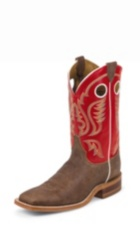 MEN'S BROWN BENT RAIL® BOOTS WITH RED TOP